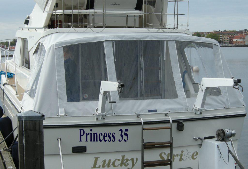 princess 35 kapell CB Marine